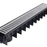 Plastic Linear Channel Drain 1000mm c/w Galvanised Grate A15